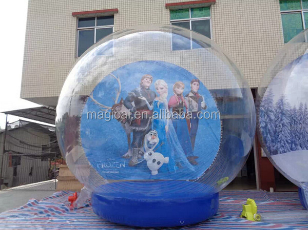 Outdoor giant inflatable snow globe tent for christmas for Outdoor christmas globes