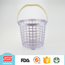 New products family middle size plastic round laundry basket with handle