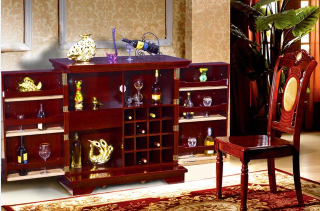 Professional Price Decor Space Saving Home Folding Bar Display Wine Cabinet  Wood