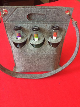 6 bottles felt wine bag