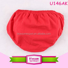 Solid red christmas lovely children cotton in children's thongs underwear models pictures