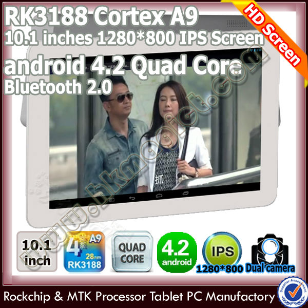 High configuration 10'' android 4.2 quad core tablet pc