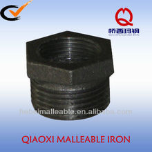 black DIN malleable iron pipe fittings reducing bushing