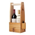 Hot selling wooden carrier for two bottle collection and a holder for a kinife