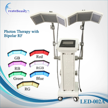 spa hot facial 7 color photon light Red Blue Yellow pdt led light skin rejuvenation therapy equipment