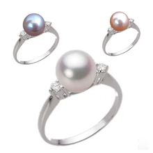pearl ring in 925 sterling silver freshwater pearl