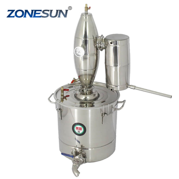 ZONESUN 45L Stainless Steel home alcohol distiller for sale Wine Maker English Manual 11 Gifts