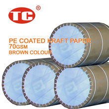 PE Coated Kraft Paper Poly Coated Paper Plastic Coated Paper