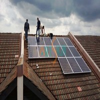 solar flat roof pv panel mounting system