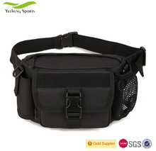 Mens Large Polyester Sports Running Chest Pack Waist Bags Military Tactical Waist Bag with Bottle Pouch