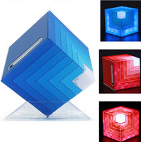 Music Speakers 2018 new arrivals Cubic rainbow HF lighted speaker with LED