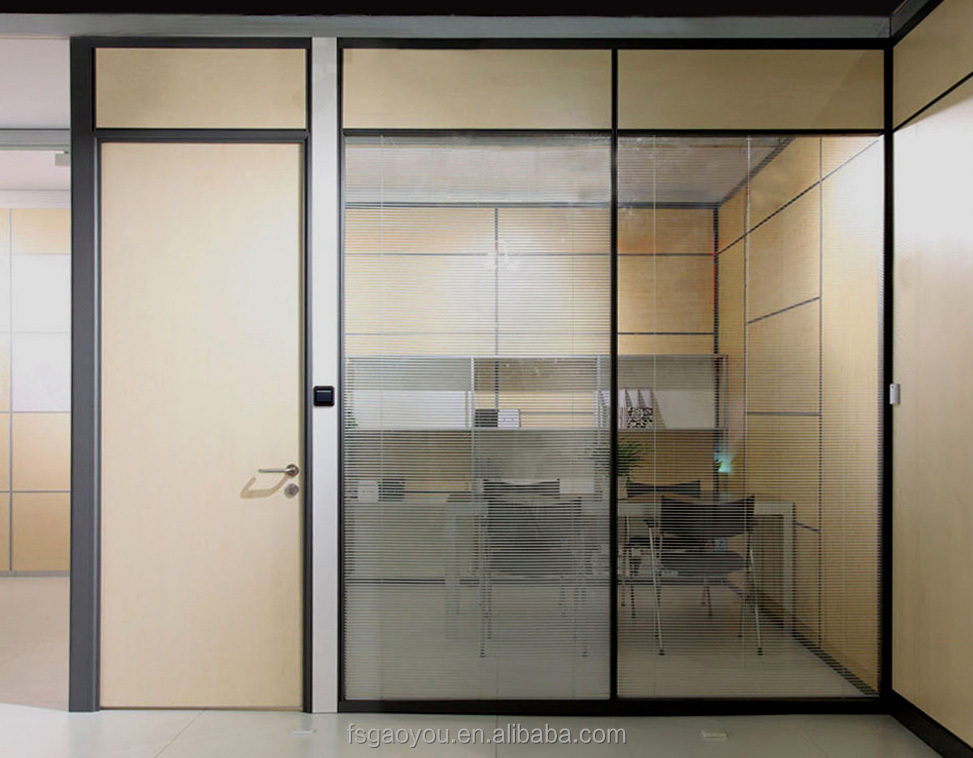 80mm cheap floor to ceiling office divider wall, tempered glass