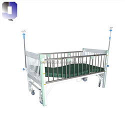 JQ-A39-1 Pediatric Hospital beds mobile type infant kids medical nursing bed on wheels