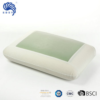 Knitted and Mesh Fabric Cover Health Beauty Memory Foam Gel Cool Pillow