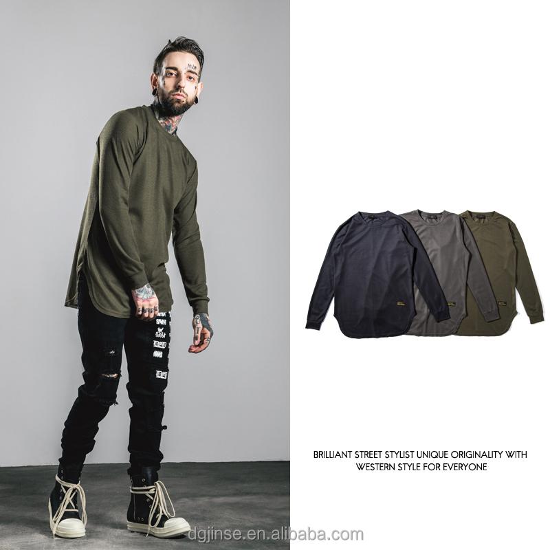 the men wholesale blank streetwear side split latest design hand