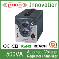 PACO brand relay type 500VA auto voltage regulator with smart cooling fan