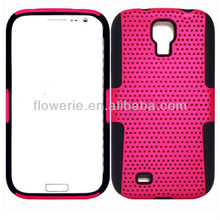 FL505 Guangzhou Stock Combo net case for Samsung Galaxy S4,robot protective hard case for s4,tpu&pc cover for s4