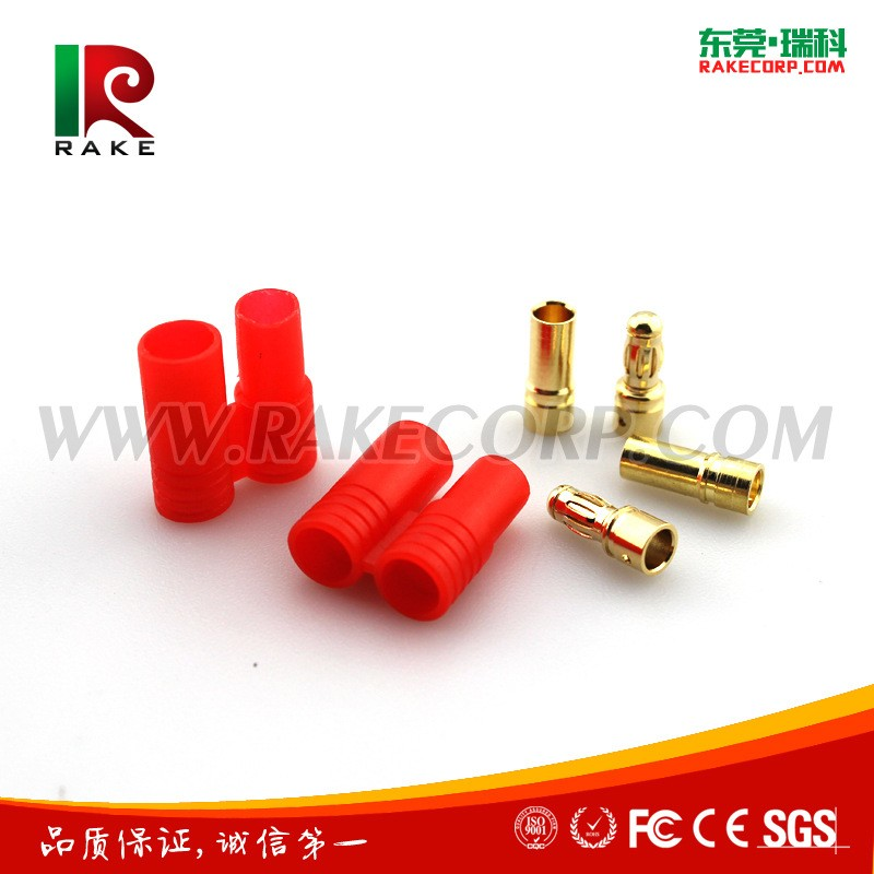 3.5mm Male and Female Gold Plated Copper Banana Plug with Plastic Housing