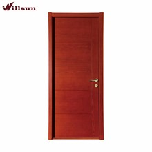 Red Cherry Natural Veneer Solid Core Flush Prefinished Commercial Interior Door