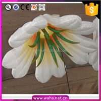 2016 artificial inflatable led flower pillar for wedding decor