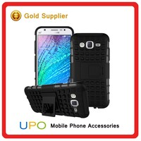 [UPO] Dual Layer Tough Rugged Kickstand Hard Hybrid Armor Shockproof Phone Case Cover for Samsung Galaxy J5