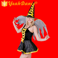 Lovely Devil Women Sexy Witch Costume With Wing