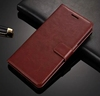 New Oil wax pattern genuine leather wallet case with card holder for coolpad cool play 6