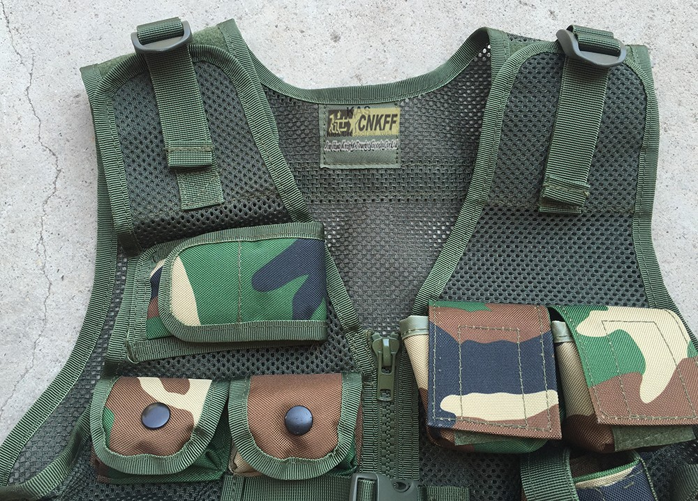 kid tactical airsoft vest with a holster for child protection and games