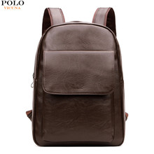 VICUNA POLO 2017 Hot Selling Product Men's Laptop <strong>Backpack</strong> Brand Fashion Brown School Bag Leather <strong>Backpack</strong>