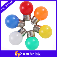 High Power Factor colorful White/red/blue/green/yellow/orange/pink 5w led color bulb