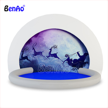 AA134 BenAo High Quality PVC Inflatable Christmas Snow Globe Bubble Tent Advertising Snowball With Blower
