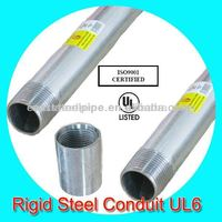 hot dip galvanized electrical rsc conduit with ul listed