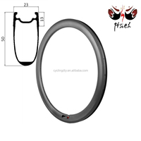 700C 50mm deep carbon rims china clincher tubeless, Aero carbon rims china 20.5mm / 23mm / 25mm width bicycle rims