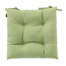 Yiwu Zhejiang manufaturer home decoration cotton and polyester fabric cosy 40x40CM square seat cushion
