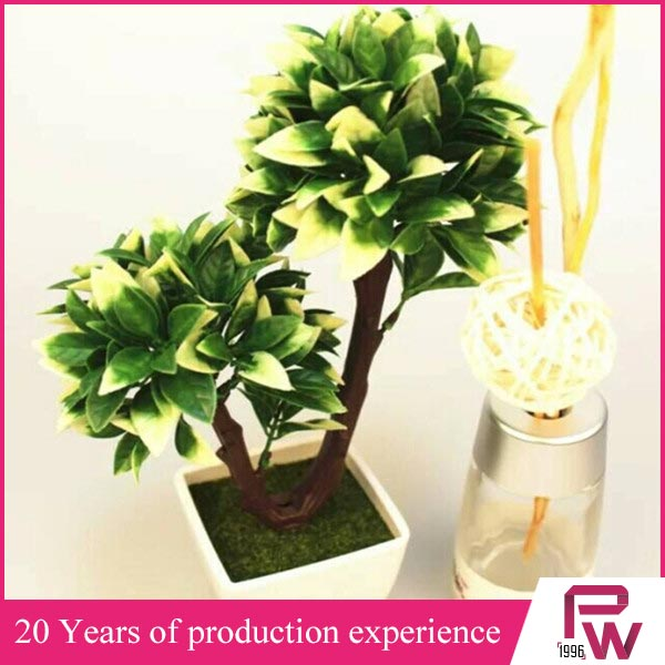 Good quality artificial plants realistic mini bonsai indoor plants supply
