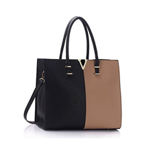 1HD0218 China Factory Wholesale Two Color Leather Large Size Women's Tote Bags College A4 Folder Handbag Nice Shoulder Handbags