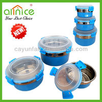 New Sale colorful airtight food container/food fresh box/airtight food jar