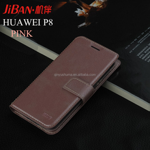 Free sample wholesale best luxury personalised leather mobile phone case with wallet card slots for HUAWEI P8