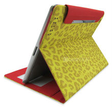 fashionable leopard-print tablet flip cover for ipad 4