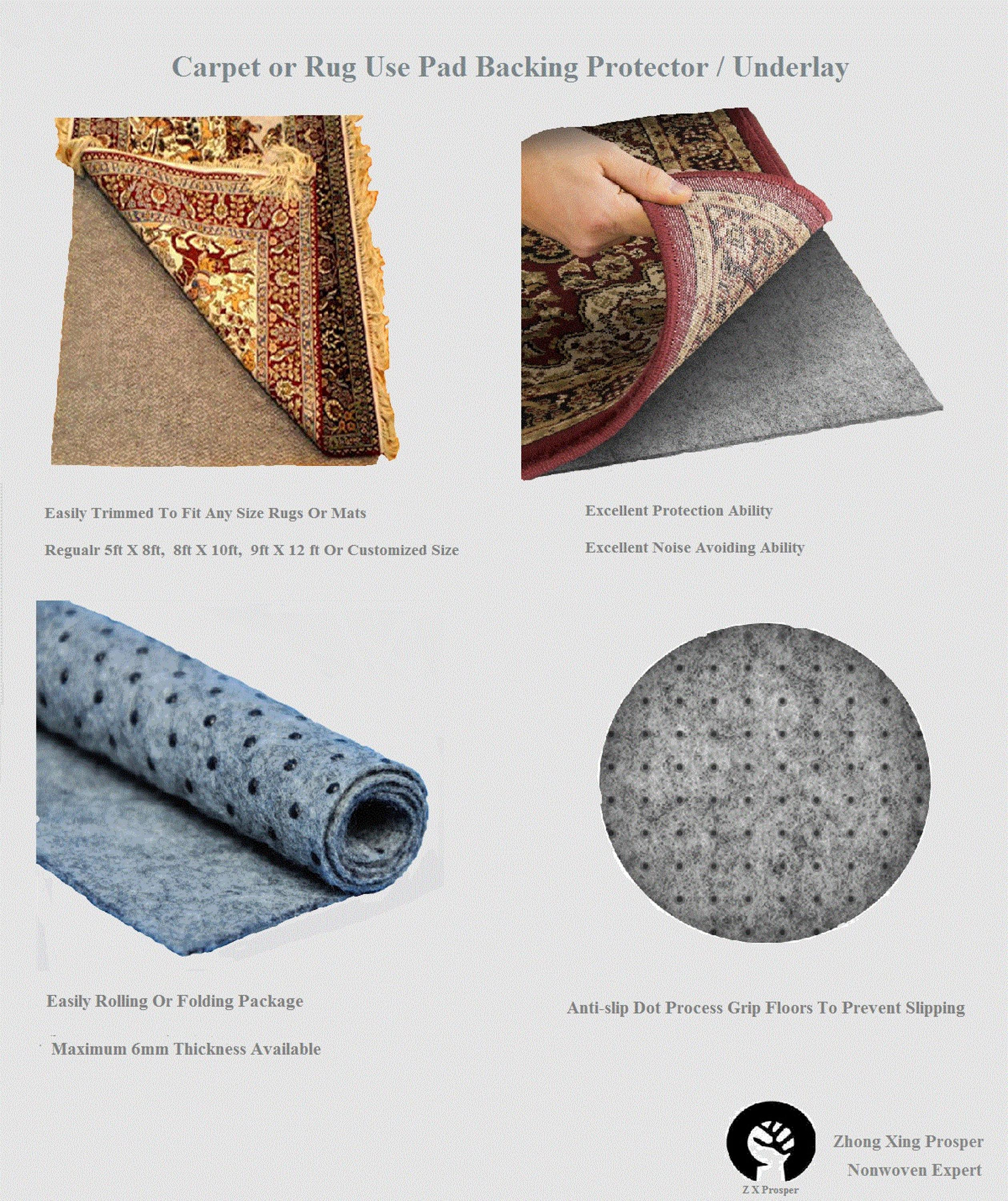 Acoustical Floor Area Rug Carpet Protection Mat Pad