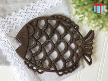 """Fish"" Decorative Cast Iron Trivet For Kitchen Or Dining Table 