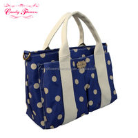 Stylish Girls Candy Flowers Fashion Waterproof Canvas Handbags