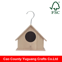 easy use unfinished wood crafts box wooden bird house