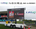 Big LED billboard trailer for outdoor video broadcast from Shanghai Linso Tech