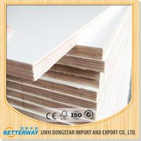ISO certification hot sale waterproof applewood commercial melamine faced plywood