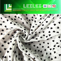 Heart Printed 100 Polyester Suit Fabric