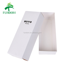 custom logo lid and base long shape square fancy cute small paper folding scarf packing flat gift box with lids