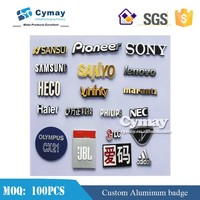 Custom nameplate badge metal signs aluminum logo for company furniture electronic product brand