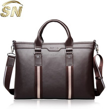 2014 High Quality Trendy Men Leather Briefcase, Handbag, Laptop Bag