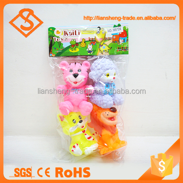 High quality eco friendly creative four style plastic animal squeeze toy
